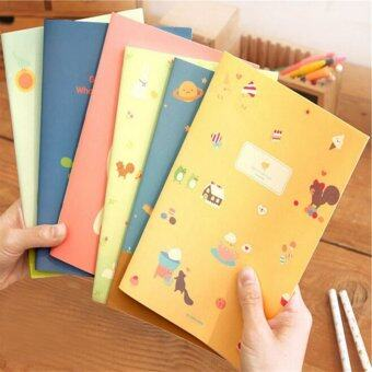 Harga 5PCS/lot New Hot Little Girl Cute Animal Notepad School Office Stationery Note Book U179 - intl