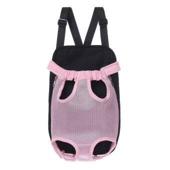 Harga Pet Puppy Dog Cat Pig Piggy Canvas Backpack Front Carry Travel Net Bag w/ Strap