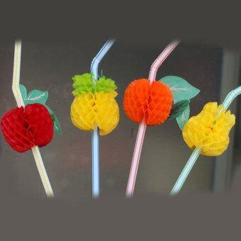 Harga Fancytoy 50Pcs Hawaiian Theme 3D Fruit Summer Party Colorful Cocktail Drink Straw