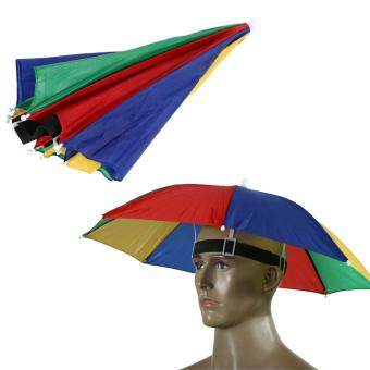 Harga Watermeion Peel Umbrella Hat Fishing Outdoor Brolly