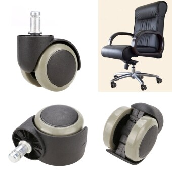 Harga Jo.In New 5PCS Office Chair Soft Rubber Caster Wheel Swivel Wood Floor Funiture Replacement - intl