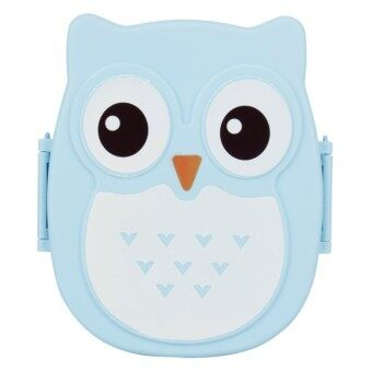 Harga Students's Cartoon Owl Lunch Box Food Container Storage Box Portable Bento Box(blue) - Intl