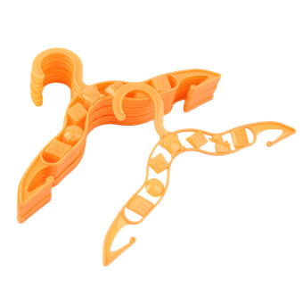 Harga OH 40 pcs Durable Plastic Coat Clothes Garment Trousers Hangers for Kids Baby Orange