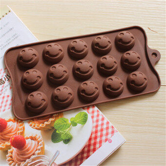 Harga Bakeware Silicone Smile Face Shaped Baking Molds for Chocolate