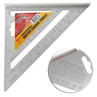 "Ishowmall 7"" Square Carpenter's Measuring Ruler Layout Tool Triangle Angle Protractor - intl"