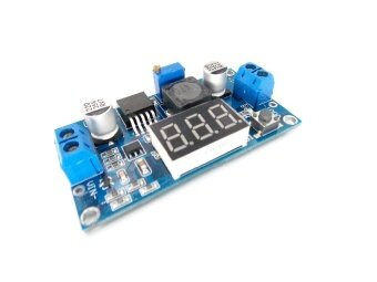 LM2596 LM2596S power module + LED Voltmeter DC-DC adjustablestep-down power supply module with digital display - intl