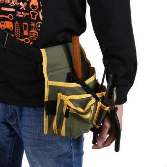 Multi Pocket Canvas Pouch Bag Mechanic Container Hardware Belt Electrician Tool Pack - intl