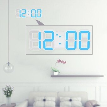 Multifunctional Large LED Digital Wall Clock 12H/24H Time DisplayWith Alarm and Snooze Function Adjustable Luminance - intl
