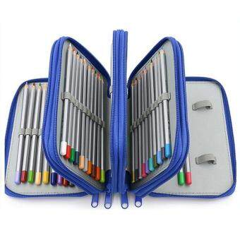 niceEshop Handy Wareable Oxford Pencil Case For Colored Pencils - 72 Slot Pencil Holder Blue - intl