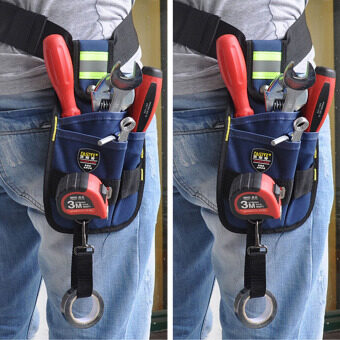 Professional Electrician Tool Kit 3-Pocket Utility Pouch (Blue) -intl