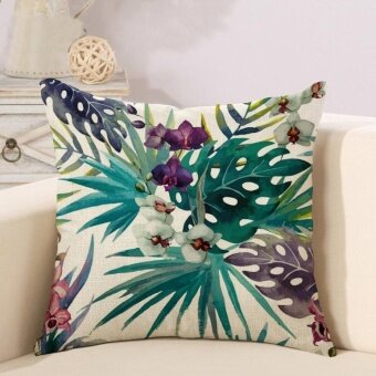 [ Ready Stock ] Modern Linen Printed Pillowcases Home Decor CarSofa Cushion Covers - intl