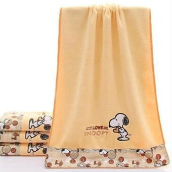 Rorychen Microfiber Bath Towels Embroidered Snoopy Gauze Towel - intl