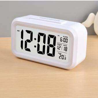 Harga Silent Digital Alarm Clock with Time Temperature Display Night Light(White)