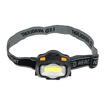 Spotlight Emergency Light For Outdoor Activities For FishingHunting Hiking Camping Boating LED Headlamps 3 Modes COB Headlight- intl