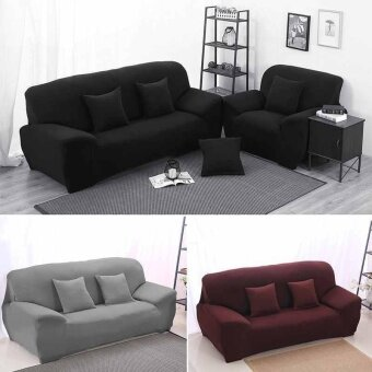 Three Seater Protector Couch Cover Sofa Cover Slipcover Full coverSkidproof - intl