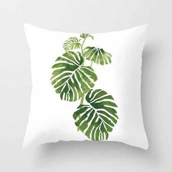 Vintage Flower Tropical Leaves Pillow Case Cushion Cover Home Decor#11 - intl