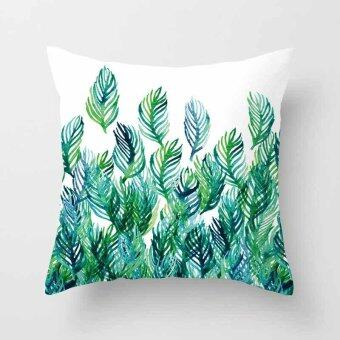 Vintage Flower Tropical Leaves Pillow Case Cushion Cover Home Decor#16 - intl