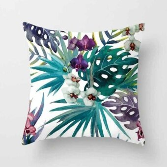 Vintage Flower Tropical Leaves Pillow Case Cushion Cover Home Decor#19 - intl