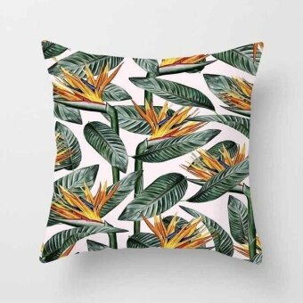 Vintage Flower Tropical Leaves Pillow Case Cushion Cover Home Decor#20 - intl