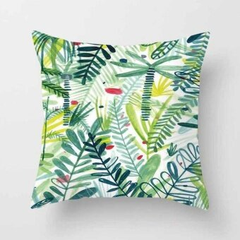 Vintage Flower Tropical Leaves Pillow Case Cushion Cover Home Decor#25 - intl