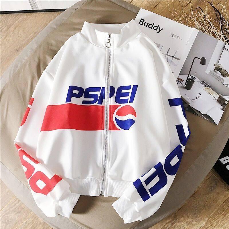 เสื้อแจ็คเก็ต สีขาวกับสีดำสไตล์เกาหลี เสื้อคลุมลำลอง ใหม่ล่าสุดในตอนนี้ที่กำลังมาแรง สุดฮิต2021.