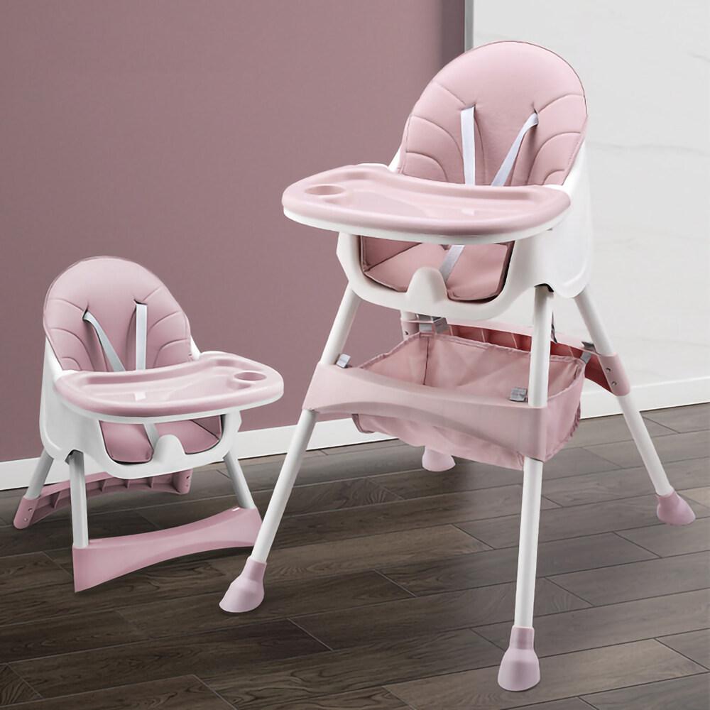Little Angels เก้าอี้ทานข้าวเด็ก 6 เดือนขึ้นไป แถมเบาะรองนั่ง Pu+ชั้นเก็บของ+ถาดรองอาหาร ปรับเข้าออกได้ 3 ระดับ 5 สีให้เลือก เก้าอี้กินข้าวเด็ก.