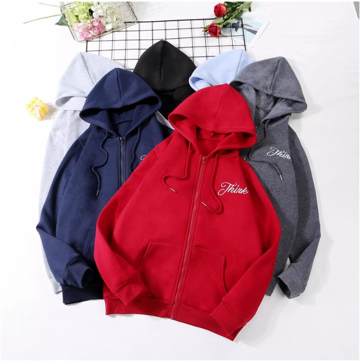 ⭐️mei⭐️เสื้อแจ็คเก็ตแขนยาว เสื้อกันหนาวรุ่น816 เสื้อฮู้ดใส่ได้ทั้งชายและหญิง มีฮู้ดมีซิปหน้า สำหรับฤดูใบไม้ร่วง - เสื้อผ้าแฟชั่น.
