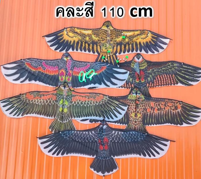 ว่าว ว่าวนกอินทรีย์ ว่าวไล่นก ว่าวไล่ศัตรูพืช ขนาด 110ซม. แถมเชือก 30 เมตร ทุกตัว พร้อมส่ง