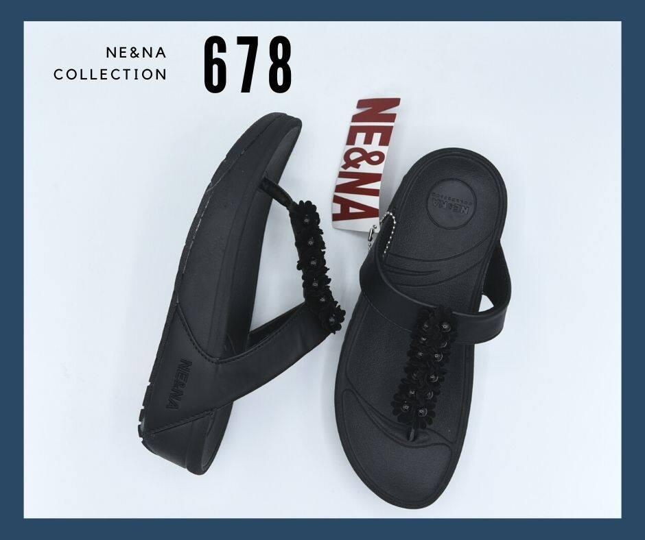 รองเท้าเเฟชั่นผู้หญิงเเบบเเตะ Flip Flop No. 678 Ne&na Collection Shoes.
