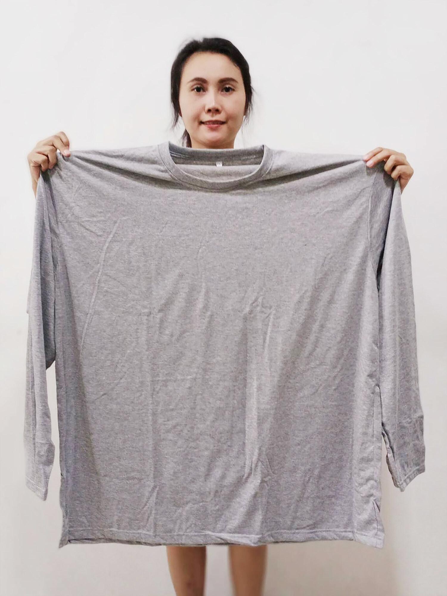 5 สี เสื้อยืดแขนยาว คนอ้วน ไซส์ใหญ่ Big Size