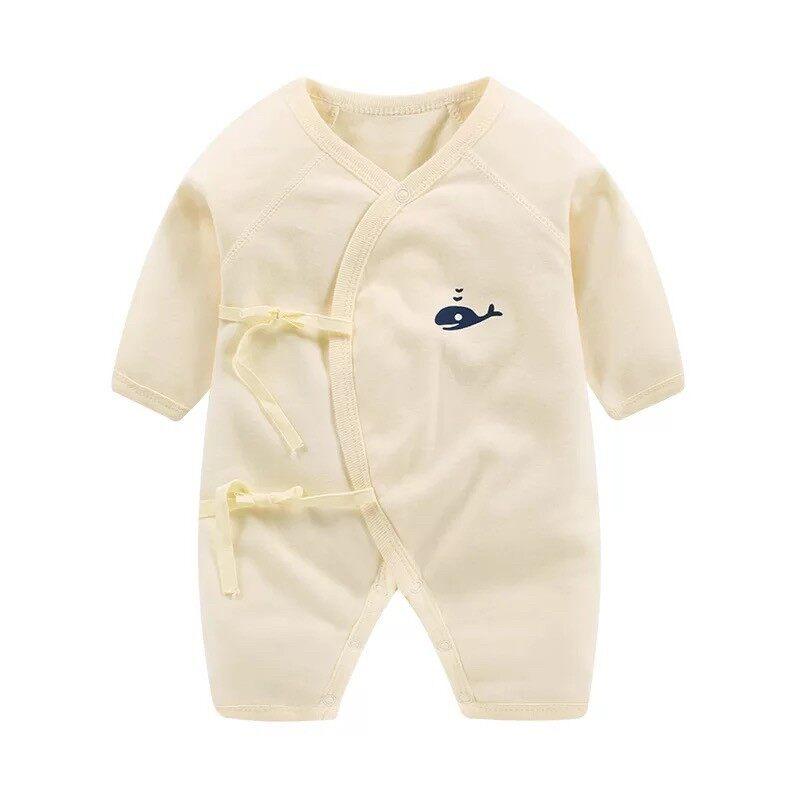 บอดี้สูทเด็ก แขนยาวขายาว ผ้าเนื้อดีเกรดA (ไซส์ 0-3-6-9 เดือน)