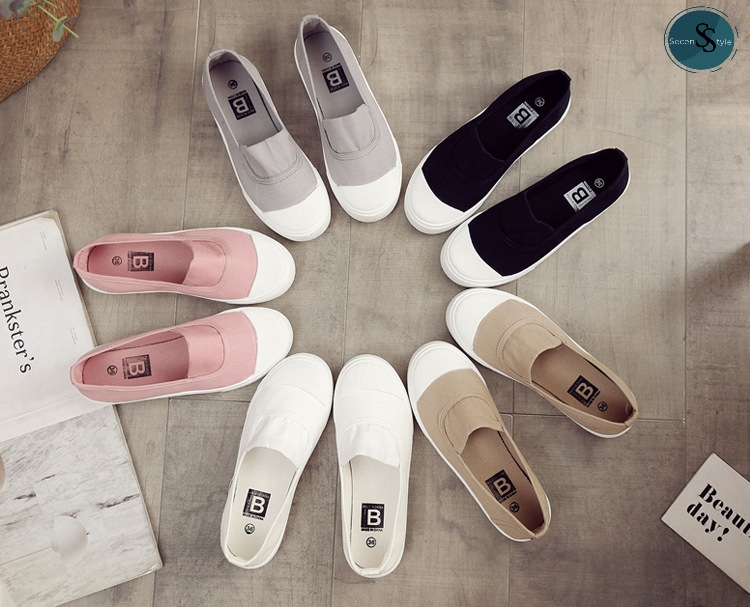 Slip-On Shoes - รองเท้าสวม สลีปออน ไม่กัดเท้า +มีเก็บเงินปลายทาง+ **พร้อมส่งในไทย** (รุ่น Ss-144).