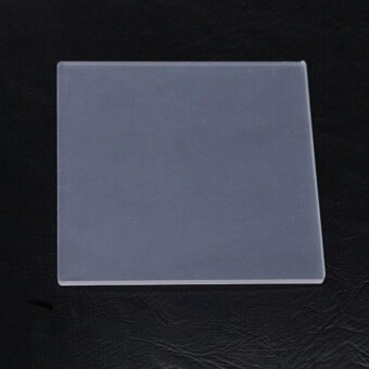 1x Clear Acrylic Board Plate Polymer Pressure Clay Stamp Making DIYAcrylic - intl