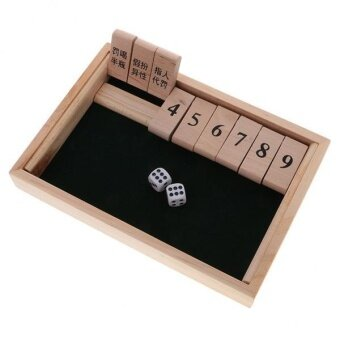 BolehDeals Shut The Box Board Game Set Number Drinking Games PartyClub Family Game - intl