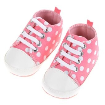 Harga Baby Girls Boy Soft Bottom Dot shoes (Pink) - intl