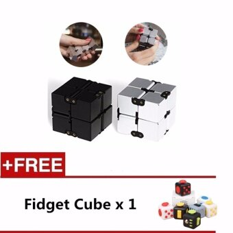 Harga 2 PCS OF Infinite Cube Square Fidget Cube Antistress Resistance Anxiety Artifact Adult Children Infinity Finger Decompression Toy - intl
