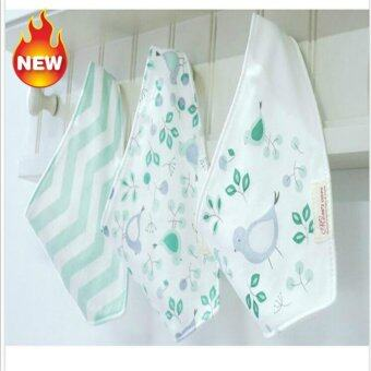 Harga [three-Piece ]Cotton triangle Bib three pieces