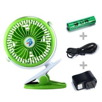 Harga 6 inch Clip Fan Portable Clamp Fans Battery Clip on Fans Personal Cooling Fan Tables Fan Desktop Fans Clamp Fans Baby Stroller Clip Fan Vehicle-mounted Fan.(Green) - intl