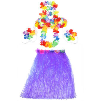 Harga New Hawaiian Hula Set Flower Grass Dance Skirt Fancy Stag Hen Party Costume