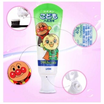 Harga ยาสีฟันกลืนได้ Lion children toothpaste Anpanman melon flavor 40g