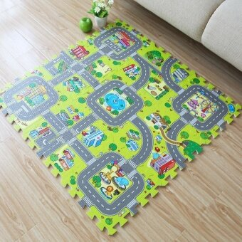 Harga Large rugs kids foam children baby play mat board game pad pieces doormat child floor mat crawling mat gym puzzle carpet mats - intl