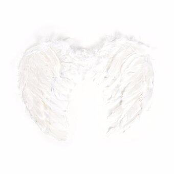 Harga Fashion Feather Wings Angel Fairy Fancy Dress Costume Halloween Party Favor White 55*40 Cm - intl