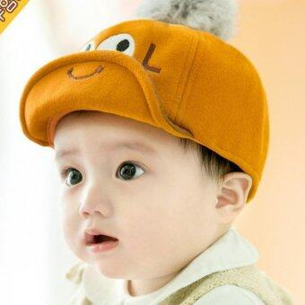 Harga Boys Girls Cool Smile Face Eyes Infant Newborn Hats Fashion Korean Style Caps - intl