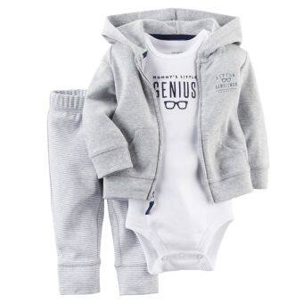 Harga Carters Newborn Cardigan Pants Set Baby Boy Outfit Clothes Grey