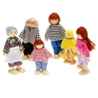 Harga AZONE Children's Toy Doll Family of 6 People (Multicolor)