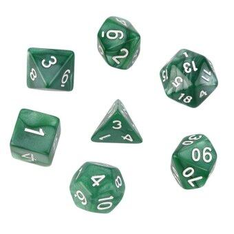 Harga UINN 7pcs/Set Games Multi Sides Acrylic Dice D4 D6 D8 D10 D12 D20 Game Playing - intl
