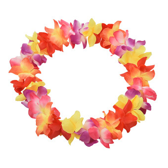 Harga Hawaiian Leis 8 Colors Simulated Silk Flower Leis Fancy Dress Garland for Party Colorful