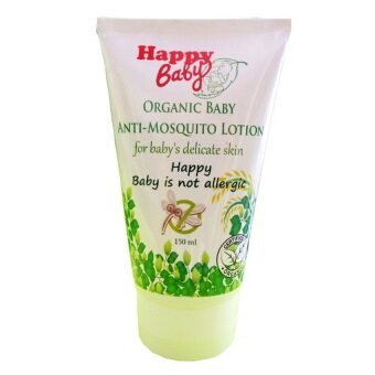 Harga Happy Baby Organic Anti-Mosquito โลชั่นกันยุง150ml.