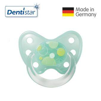 Harga Dentistar Tooth-friendly Pacifier Soother Silicone (14 months+) size 3 with ring (Circles)