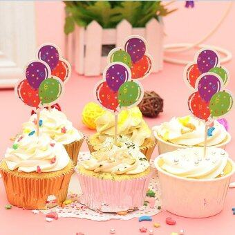 Harga 6PCS/lot Cupcake Toppers Picks Kids Birthday Event Party Decorations Supplies Balloon - intl